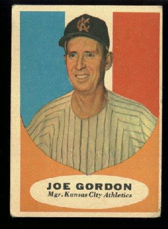 1961 Topps #224 Joe Gordon Kansas City Athletics baseball card