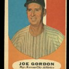 1961 Topps #224 Joe Gordon Kansas City Athletics baseball card
