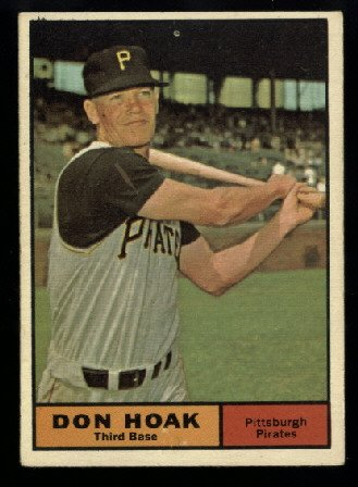 1961 Topps #230 Don Hoak Pittsburgh Pirates baseball card