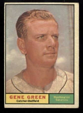 1961 Topps #206 Gene Green Washington Senators baseball card
