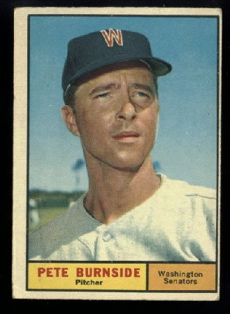 1961 Topps #507 Pete Burnside Washington Senators baseball card