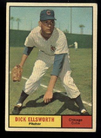 1961 Topps #427 Dick Ellsworth Chicago Cubs baseball card