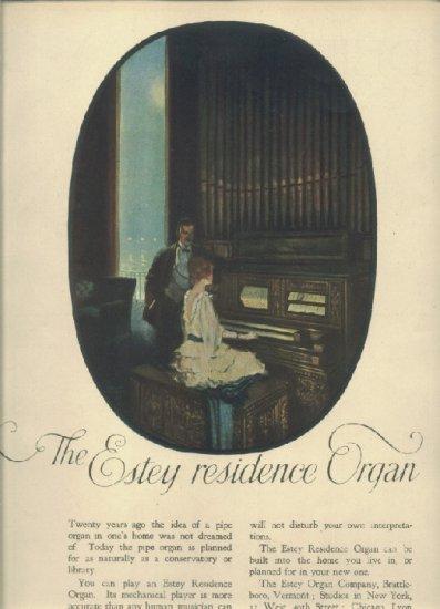 Authentic Color 1919 Estey residence organ magazine ad
