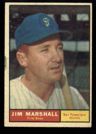 1961 Topps #188 Jim Marshall San Francisco Giants baseball card