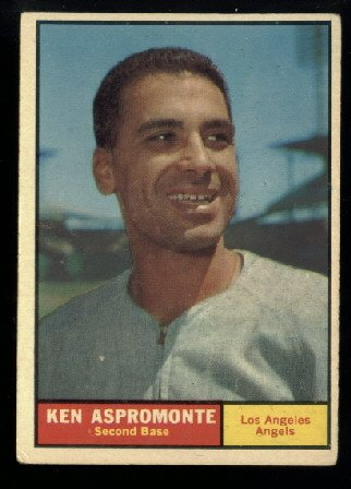 1961 Topps #176 Ken Aspromonte Los Angeles Angels baseball card