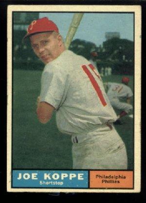 1961 Topps #179 Joe Koppe Philadelphia Phillies baseball card