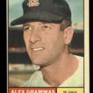 1961 Topps #64 Alex Grammas St. Louis Cardinals baseball card