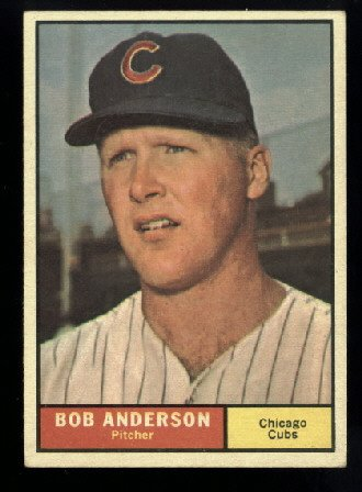 Nice 1961 Topps #283 Bob Anderson Chicago Cubs baseball card well centered