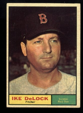 1961 Topps #268 Ike DeLock Boston Red Sox baseball card