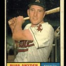 1961 Topps #143 Russ Synder Kansas City Athletics baseball card