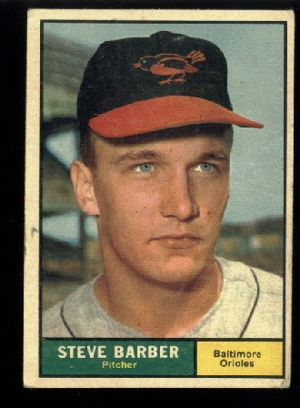 1961 Topps #125 Steve Barber Baltimore Orioles baseball card