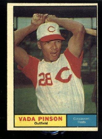 1961 Topps #110 Vada Pinson Cincinnati Reds baseball card