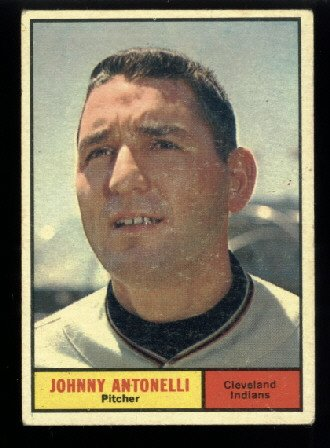 1961 Topps #115 Johnny Antonelli Cleveland Indians baseball card