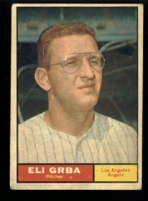 1961 Topps #121 Eli Grba Los Angeles Angels baseball card