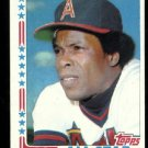 NrMt + WRONG BACK 1982 Topps Rod Carew All Star baseball card