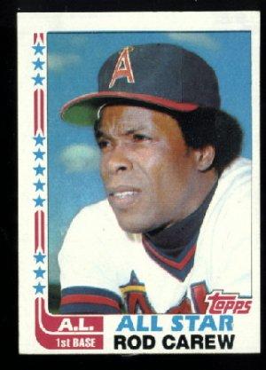 NrMt + WRONG BACK 1982 Topps Rod Carew All Star baseball card