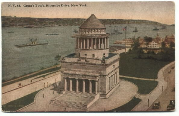 Grants Tomb and Claremont Hotel divided back early 1900 postcard HH Tammen Co.