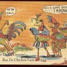 De Rooster Do De Crowin C. T. Art Rural Comics Curteich    linen postcard  Unused