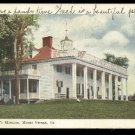 1905 undivided back postcard Washingtons Mansion, Mount Vernon Va