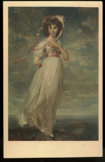 PINKIE Miss sarah Moulten - Barrett postcard  Portrait by Sir Thomas Lawrence