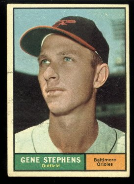 1961 Topps #102 Gene Stephens Baltimore Oriole baseball card