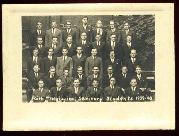 1939-40 Faith Theological Seminary class photograph