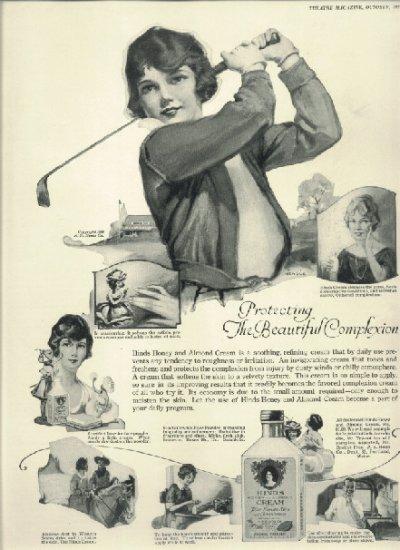 Original 1923 Ad for Hines Cream     Woman golfer