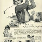 Original 1923 Ad for Hines Cream     Woman golfer