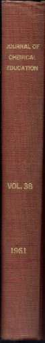 Journal of Chemical Education   Volume 38   1961    Complete year of issues in ONE BOOK