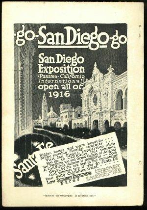 Original 1916 Ad for San Diego Exposition panama - california international  and Santa Fe railroad
