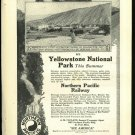 1916  Northern Pacific railroad  Yellowstone National Park  Art Ad