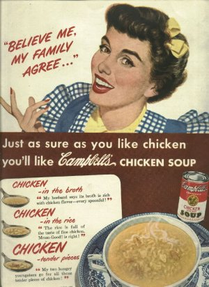 1950 ad Campbells chicken soup