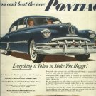 1950 Ad Pontiac Silver Streak   everything it takes to make you happy!