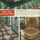 1950 ad Armstrong Flooring   Linotile - Asphalt Tile - Linoleum