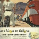 1950 Southern Pacific railroads magazine ad  Golden State streamliner