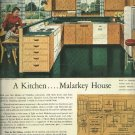 1950 Ad for Malarkey Plywoods  Kitchen   M & M Wood Working Company