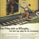 1950 American Railway Car Institute  Hobo's catching train