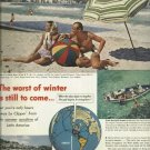 1950 ad Pan American airline ad  Clipper  The worst of winter is still to come