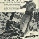 1950 MGM ad  western movie AMBUSH with Robert Taylor Arlene Dahl