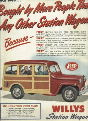 1950 ad Jeep Willys station wagon   Willys overland Motors