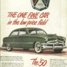1950 Ford custom magazine ad  Original  Full page in color