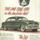1950 Ford custom magazine ad  Original  Full page in color
