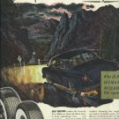 1950 General Tire magazine ad Car on slick mountain road