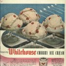 1950 Whitehouse Cherry ice cream ad   A dairy GUILD product