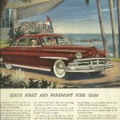 1950 Lincoln Cosmopolitan car magazine ad     Ocean front house