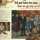 1950 Neolite Soles magazine ad  Mr & Mrs. Harold Munson say  Now We All Step On It