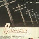 1950 AC CORALOX spark plug magazine ad   Good News Travels Fast