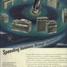 1950 IBM magazine ad  Speeding business through electronics