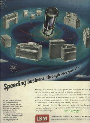 1950 IBM magazine ad  Speeding business through electronics