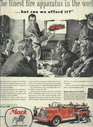1950 Mack fire truck ad Full Page  Mack outlast them all